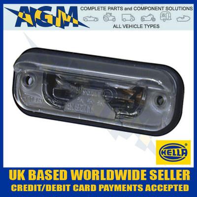 Hella Number License Plate Recess Lamp Light Silver Effect 12/24v