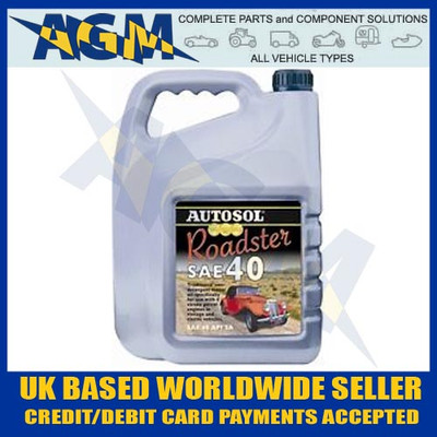 Quality 0398 Autosol Roadster Classic Car/Vehicle SAE 40 Engine Oil 5LTR 40W