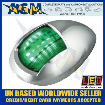 led, autolamps, marine, 52cg, green, starboard, navigational, navigation
