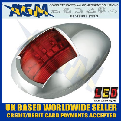 led, autolamps, marine, 52cr, red, portside, navigational, navigation, lamp, port, light