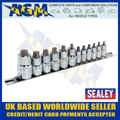 sealey, ak6228, trx, star, torx, stubby, socket, bit