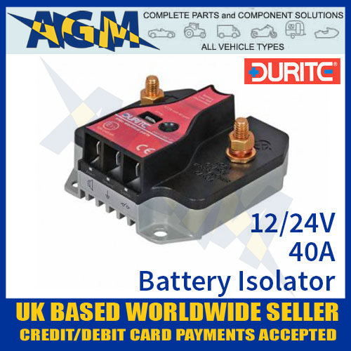 Durite 0-852-04, 40A Solid State Battery Guard and Disconnect 12/24v