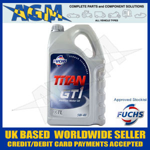 Fuchs Titan 600764524 GT1 XTL 5W-40 Fully Synthetic Low Ash Oil 5 Ltr