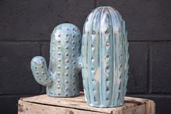 """Ceramic Cactus from the """"Mirio"""" Series - Blue"""