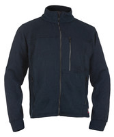 Alpha Jacket, Front View, Fleece FR Jacket, Flame Resistant Jacket, Navy
