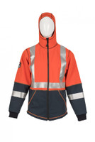 DragonWear, Elements Lightning Jacket, Front View, Hood-up, Outerwear, NFPA 70E, CSA Z96