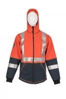 Elements Lightning Jacket, Front View, Flame Resistant Jacket, Orange Hi Vis Jacket
