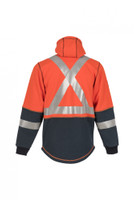 DragonWear, Elements Lightning Jacket, Back View, Outerwear, NFPA 70E, CSA Z96