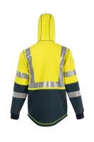 DragonWear, Elements Nova Jacket, Back View, Hood-up, Outerwear, NFPA 70E, NFPA 2112, ANSI 107
