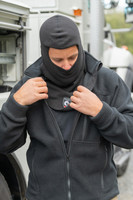 Fleece Balaclava, Front View, Fleece FR Headwear, Super Fleece Balaclava, Flame Resistant Balaclava, Lifestyle