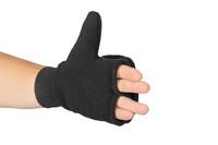 Flip-Top Mitten, Angle View, Super Fleece FR Mittens, Flame Resistant Mittens, Finger Flap Down