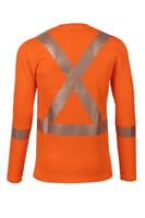 Pro Dry Long Sleeve Orange, Back View, Hi Vis Orange Long Sleeve FR, Flame Resistant Orange Hi Vis Shirt