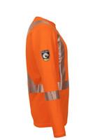 Pro Dry Long Sleeve Orange, Side View, Hi Vis Orange Long Sleeve FR, Flame Resistant Orange Hi Vis Shirt