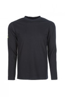 Pro Dry Long Sleeve Navy, Front View, Long Sleeve FR Shirt, Flame Resistant Long Sleeve Shirt