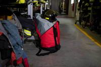 Amabilis Duffel 80L, Standing View, Large Duffel Bag, Tough Duffel Bag, Lifestyle