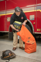 Decon Bag, Standing & Loading, Waterproof Decontamination Bag, Reusable Decontamination Bag, 75L Decontamination Bag, 75L Dry Bag, Lifestyle