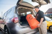 Decon Bag, Bottom Angle View, Waterproof Decontamination Bag, Reusable Decontamination Bag, 75L Decontamination Bag, 75L Dry Bag, Transportation