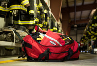 Dispatch Duffel, Open View, Structure Duffel Bag, Fire fighter duffel, Fire fighter travel bag, Lifestyle