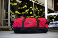 Dispatch Duffel, Side View, Structure Duffel Bag, Fire fighter duffel, Fire fighter travel bag, Lifestyle