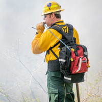 Firefly Pack, Front Angle View, Wildland Fire Pack, Wildland Firefighting Backpack, Lifestyle