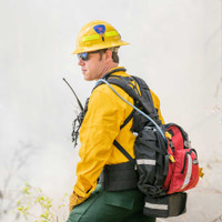 Firefly Pack, Side Angle View, Wildland Fire Pack, Wildland Firefighting Backpack, Lifestyle