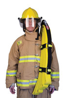 High Rise Hose Straps, Front View, Lifestyle, Fire Hose Straps, High Rise Fire Hose Straps