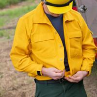 Wildland Brush shirt, front, lifestyle, unbuttoned