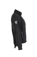 Alpha Jacket (Black), Side View, Super Fleece FR Collection, NFPA 70E, NFPA 2112, Arc Rated, Outerwear