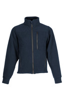 Alpha Jacket (Navy), Front View, Super Fleece FR Collection, NFPA 70E, NFPA 2112, Arc Rated, Outerwear