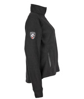 Alpha Jacket Women's (Black), Side View, Super Fleece FR Collection, NFPA 70E, NFPA 2112, Arc Rated, Outerwear