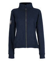 Alpha Jacket Women's (Navy), Front View, Super Fleece FR Collection, NFPA 70E, NFPA 2112, Arc Rated, Outerwear