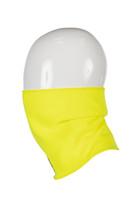 Hi-Vis Neck Gaiter, Side View,  FR Neck Gaiter, Flame Resistant Neck Gaiter, Hi-Vis Yellow