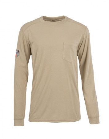 Pro Dry Long Sleeve, Front View, Long Sleeve FR Shirt, Flame Resistant Long Sleeve Shirt