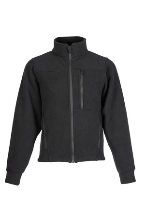 Alpha Jacket (Black), Front View, Super Fleece FR Collection, NFPA 70E, NFPA 2112, Arc Rated, Outerwear