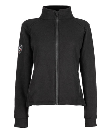 Alpha Jacket Women's (Black), Front View, Super Fleece FR Collection, NFPA 70E, NFPA 2112, Arc Rated, Outerwear