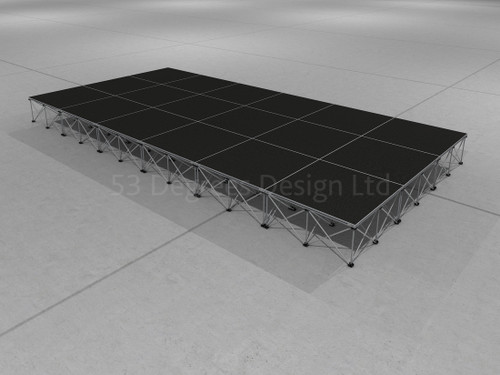 Visual representation of Pro 100, 6m x 3m portable stage.