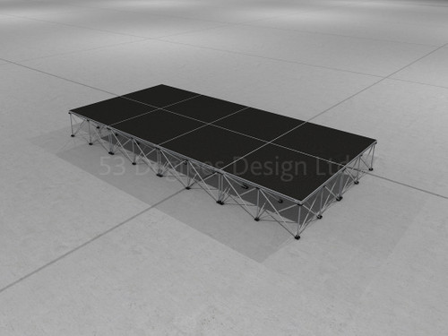 Visual representation of Pro 100, 4m x 2m portable stage.
