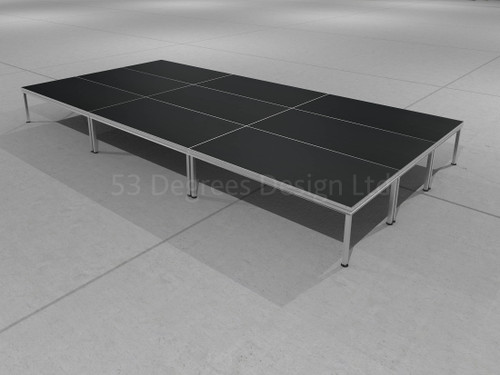 Visual representation of All Rapid, 6m x 3m portable stage.