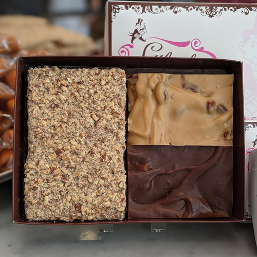Gift box with World Famous English Toffee and Fudge