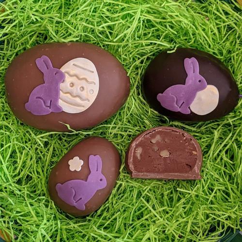 Chocolate Walnut Buttercream Egg