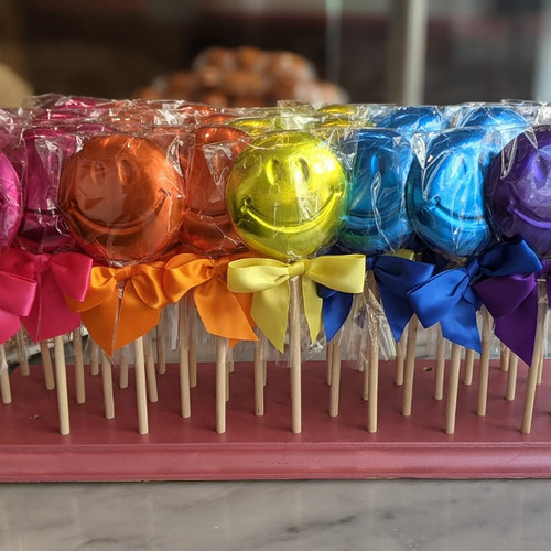 Happy Face Chocolate Lollipops - Set of 2