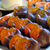 Whole apricots and slices of real orange, candied and half dipped in dark chocolate