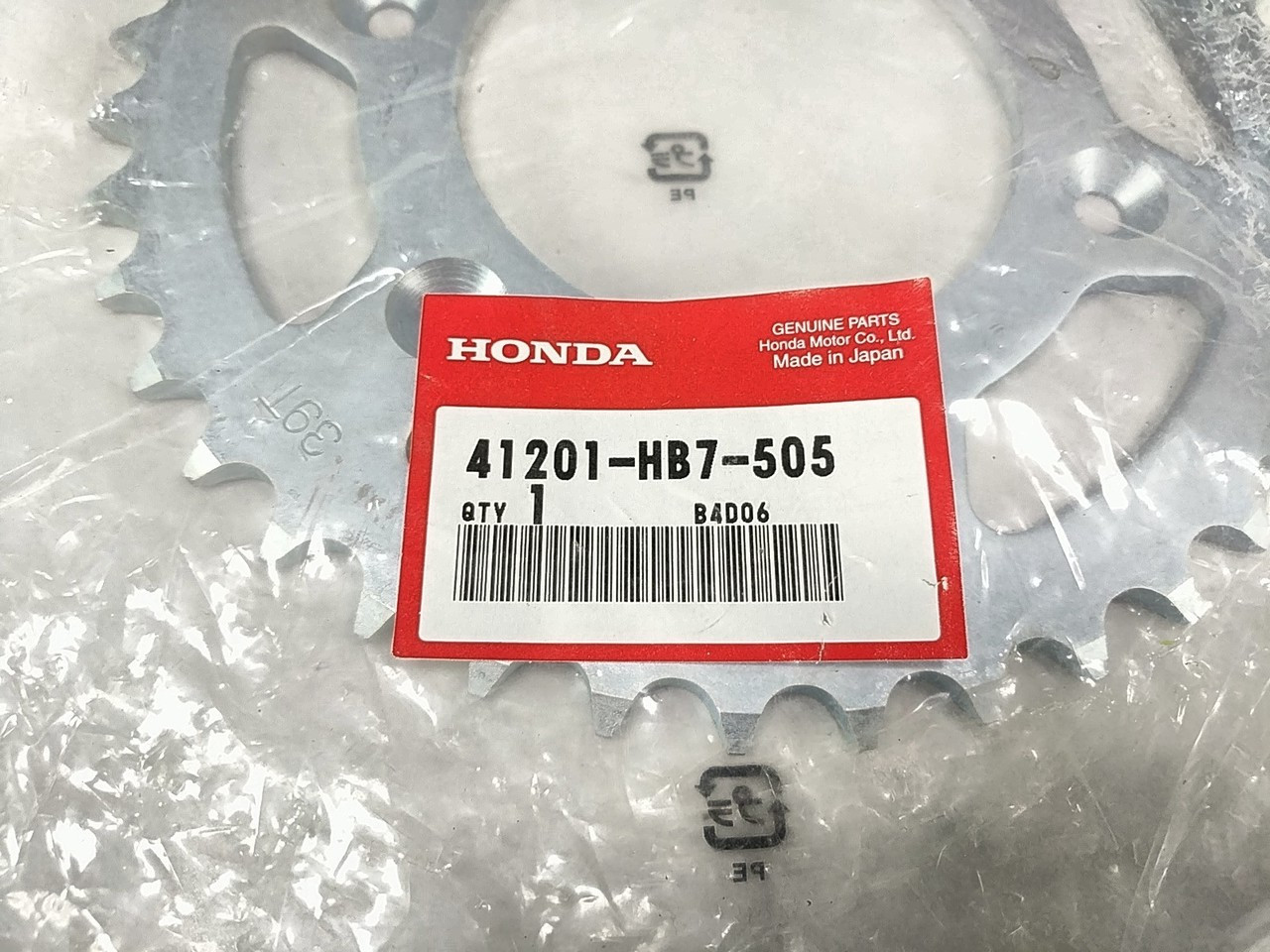 Honda OEM Rear Sprocket 39T 41201-HB7-505