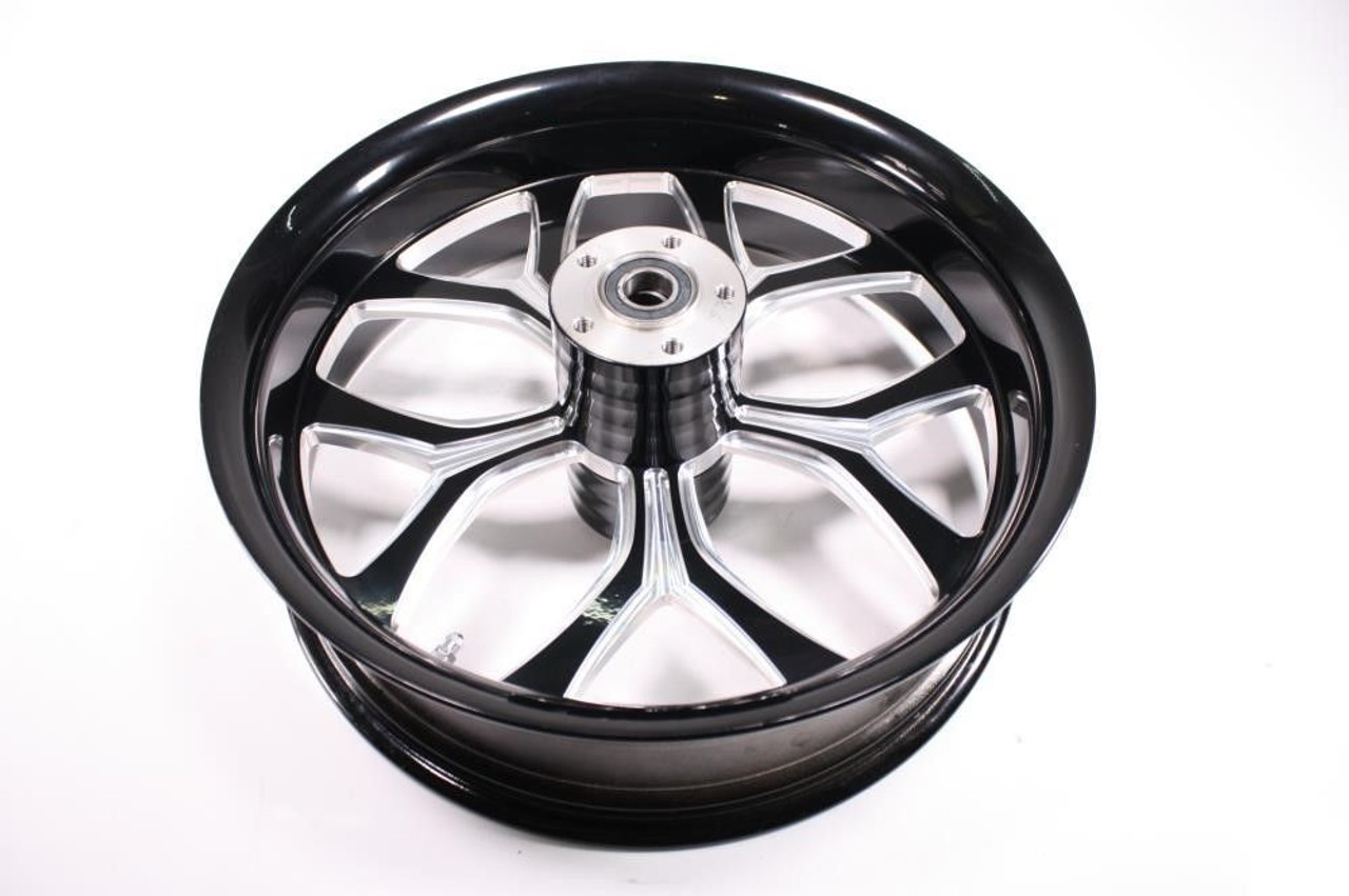 Chicago Hustler Harley HD FXST FLSTF Wheel Rim Rear Billet Black 18x5.5 65-4373