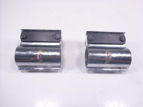 02 Suzuki VS800 Front Forks Tubes Outer Sleeves Covers Chrome