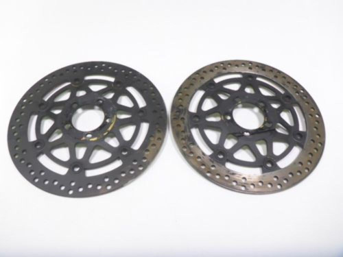 05 06 07 08 Kawasaki ZZR 600 Front Wheel Disc Brake Rotors Black