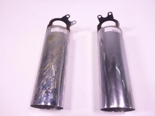 02 Honda VT750 ACE Front Fork Outer Tube Sleeves Lower (A)