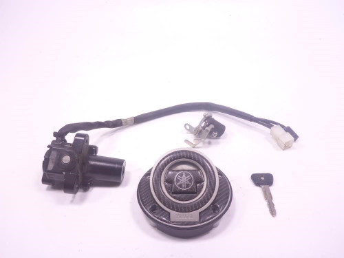 12 Yamaha FZ8 Lock Set Ignition Switch Cap And Key