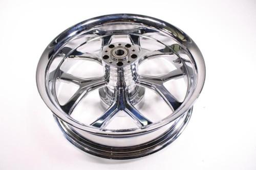 Chicago Hustler Harley HD FLH FLHT Wheel Rim Rear Billet Chrome 18x5.5 65-4278