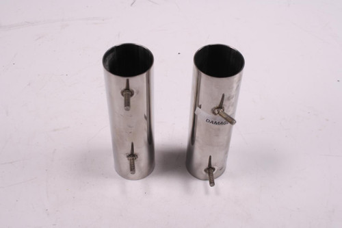07 Triumph Thruxton 900 Front Left Right Fork Tube Covers Chrome
